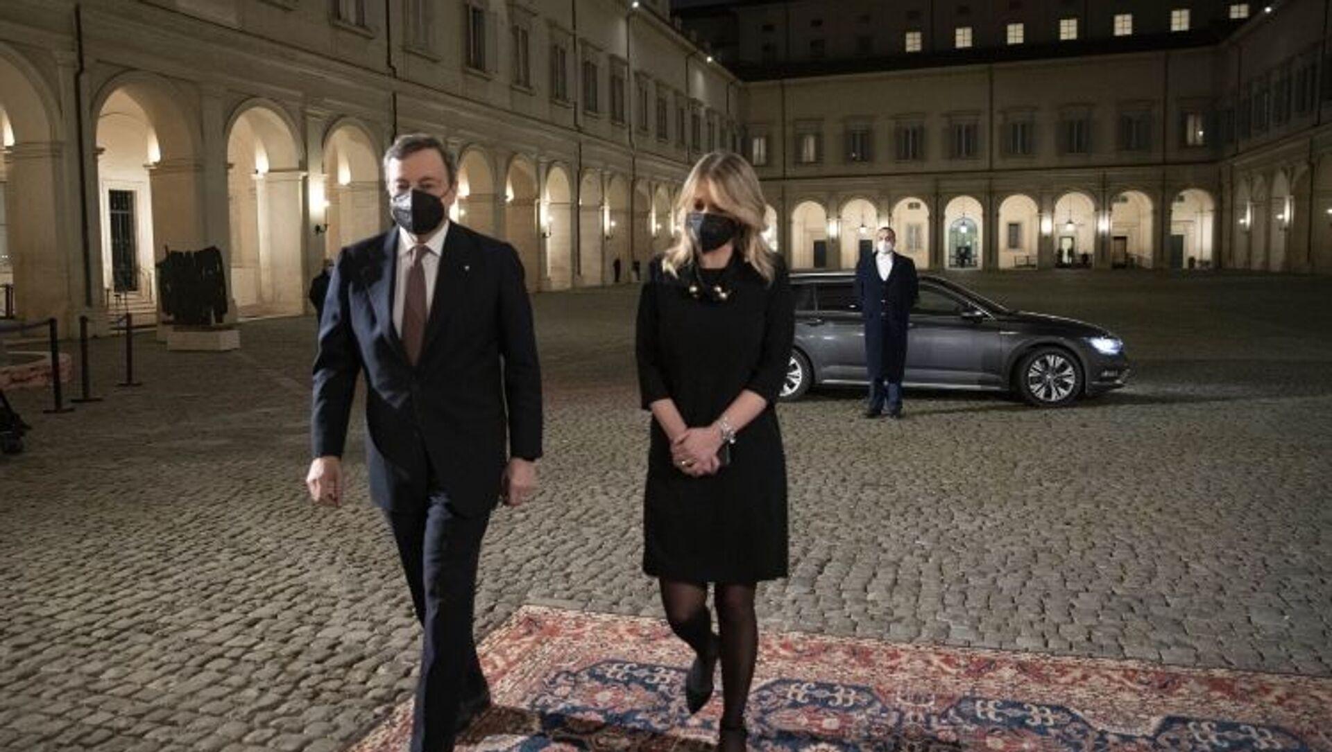 L'arrivo di Draghi al Quirinale - Sputnik Italia, 1920, 12.02.2021