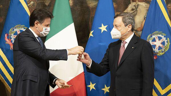 Passaggio di consegne tra Conte e Draghi - Sputnik Italia