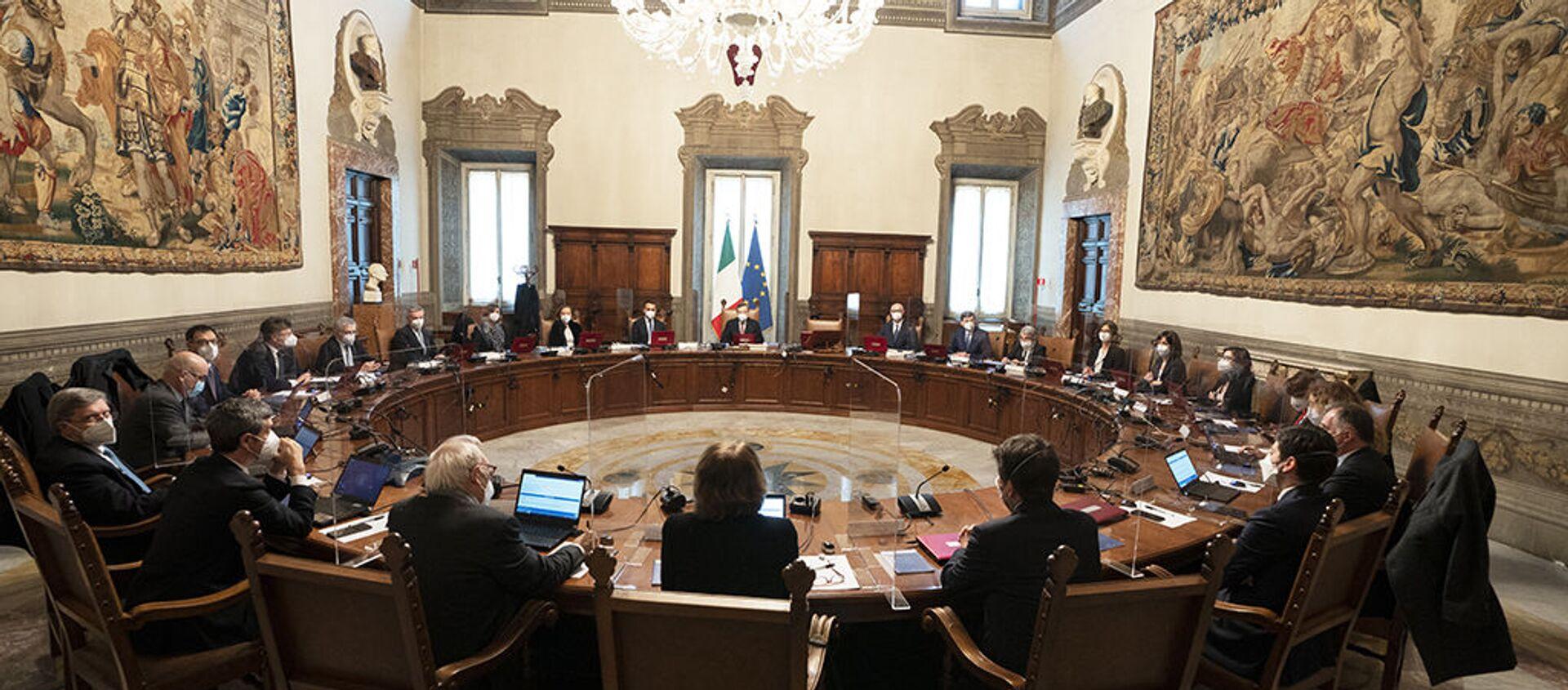 Primo Consiglio dei ministri del Governo Draghi - Sputnik Italia, 1920, 31.03.2021