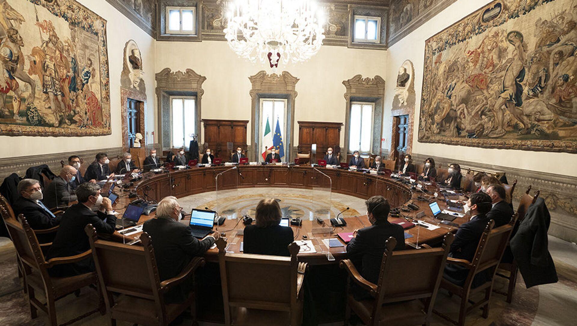 Primo Consiglio dei ministri del Governo Draghi - Sputnik Italia, 1920, 19.03.2021
