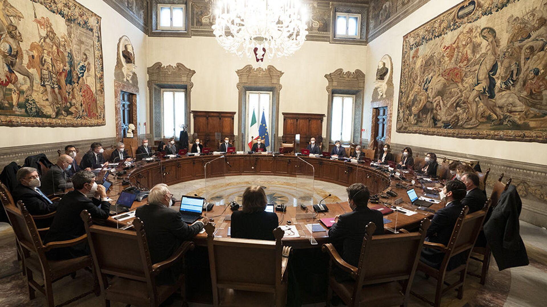 Primo Consiglio dei ministri del Governo Draghi - Sputnik Italia, 1920, 13.02.2021