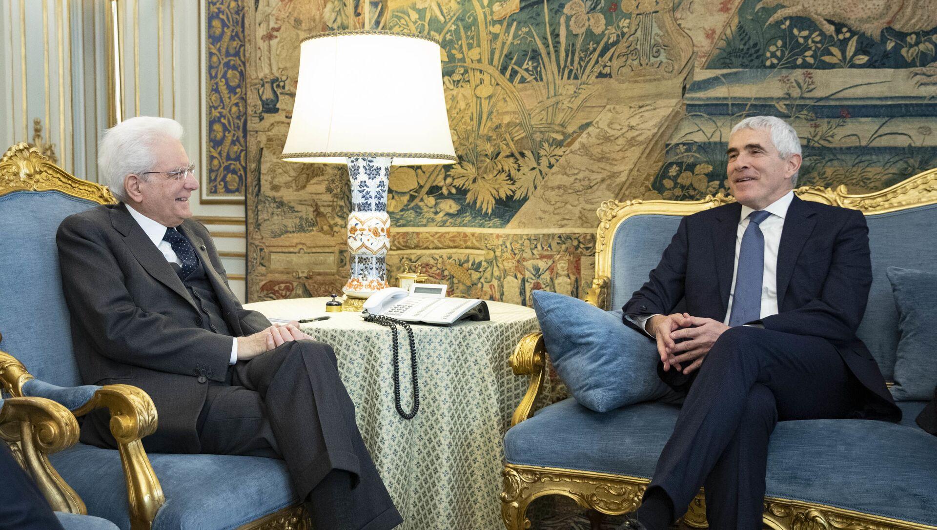 Il Presidente Sergio Mattarella incontra il Sen Pier Ferdinando CASINI,Presidente del Gruppo Italiano dell'Unione Interparlamentare - Sputnik Italia, 1920, 14.02.2021