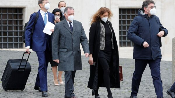 Erika Stefani, Massimo Garavaglia, Giancarlo Giorgetti, Vittorio Colao  - Sputnik Italia