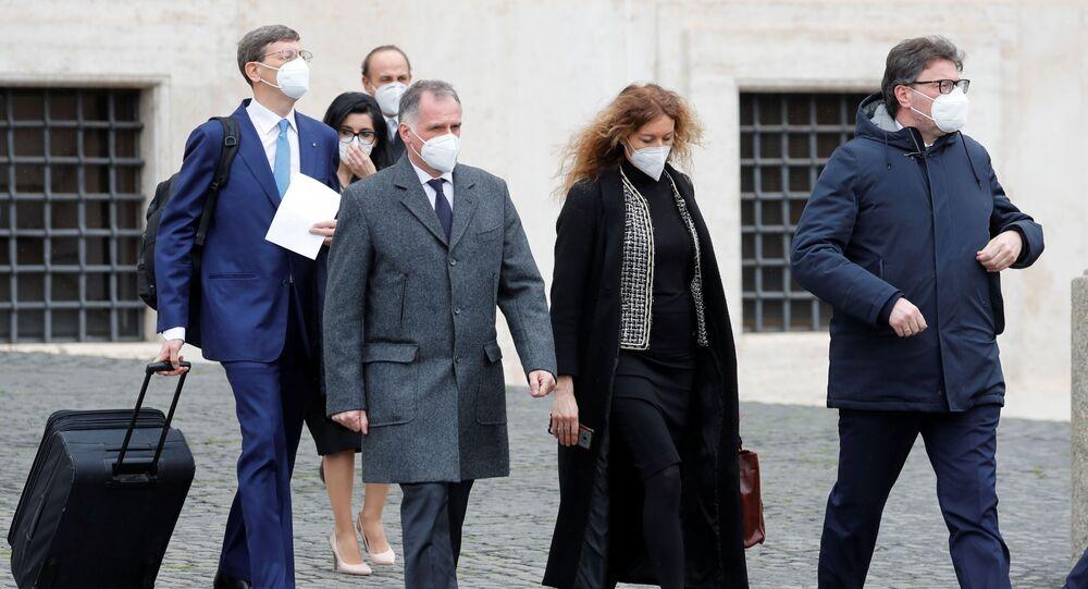 Erika Stefani, Massimo Garavaglia, Giancarlo Giorgetti, Vittorio Colao