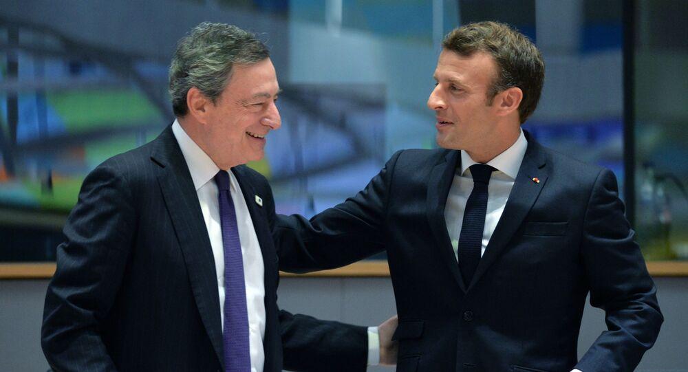 Mario Draghi e Emmanuel Macron