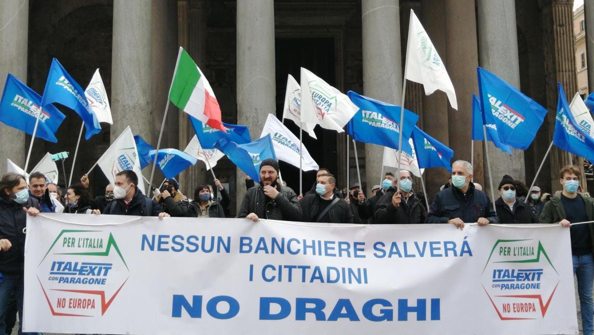 Manifestazione Italexit Roma - Sputnik Italia, 1920, 17.02.2021