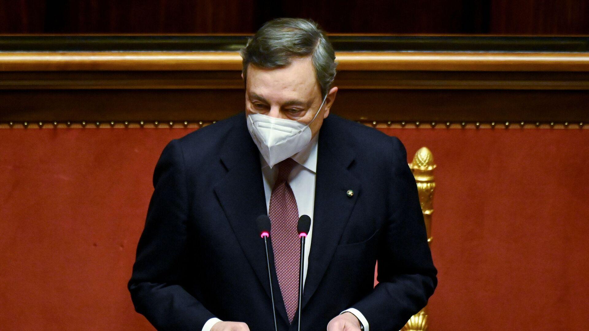 Il presidente del Consiglio Mario Draghi al Senato - Sputnik Italia, 1920, 02.03.2021