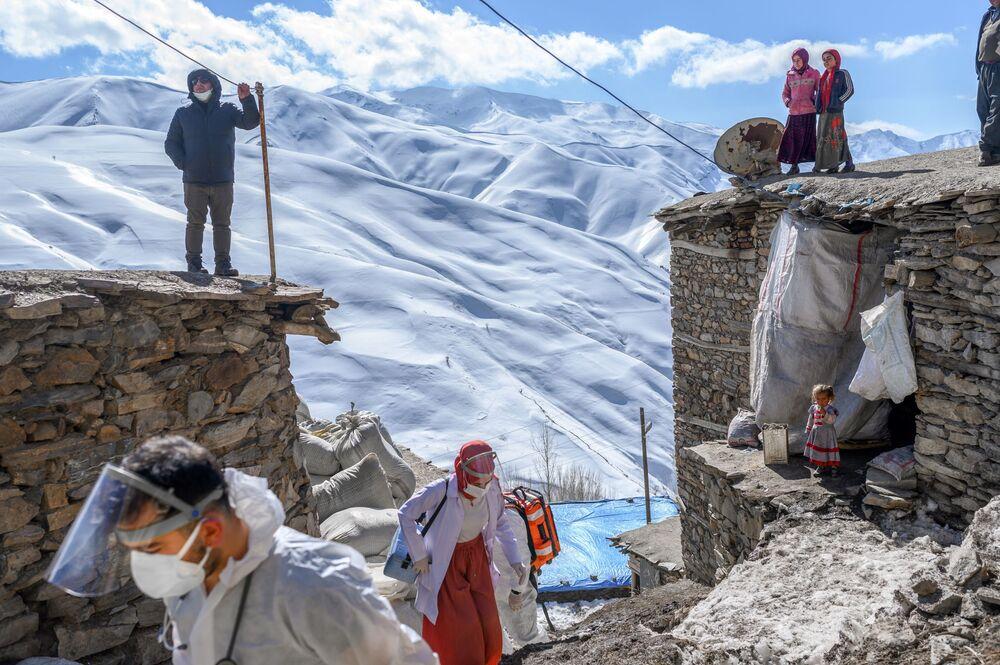 Vaccinazione con CoronaVac in un villaggio nella Turchia orientale