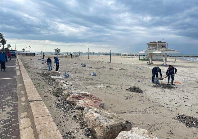 Coste dello Stato di Israele inquinate da tonnellate di greggio