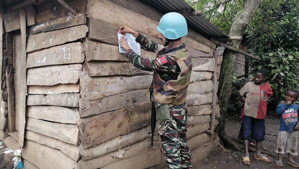 Militari di MONUSCO, la missione dell'Organizzazione delle Nazioni Unite per la stabilizzazione nella Repubblica Democratica del Congo - Sputnik Italia