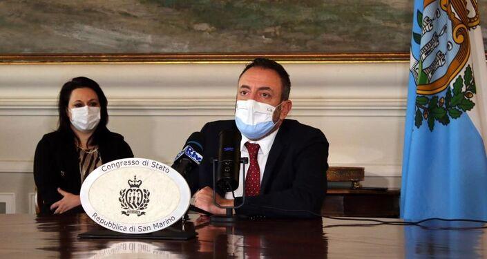 Luca Beccari, Segretario di Stato per gli Affari Esteri della Repubblica di San Marino