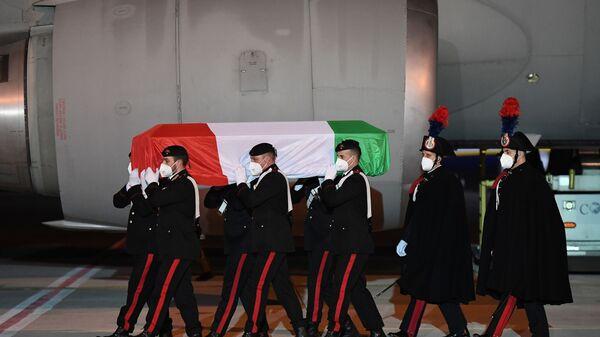 Arrivate a Ciampino le salme dell'ambasciatore Luca Attanasio e del carabiniere Vittorio Iacovacci - Sputnik Italia