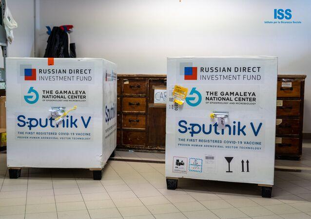 La prima fornitura del vaccino russo Sputnik V a San Marino