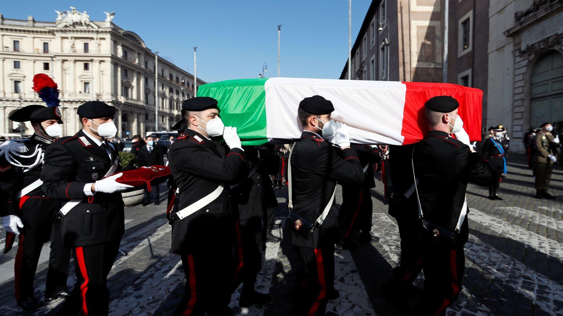 Funerali dell'ambasciatore italiano Luca Attanasio a Roma - Sputnik Italia, 1920, 22.05.2021