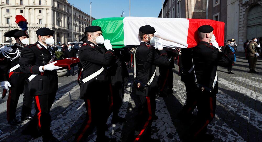 Funerali dell'ambasciatore italiano Luca Attanasio a Roma