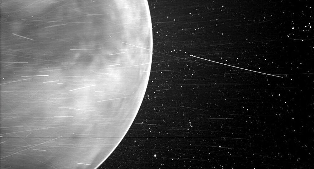 Un'immagine di Venere, fatta dallo Wispr della sonda solare Parker della NASA nel luglio 2020