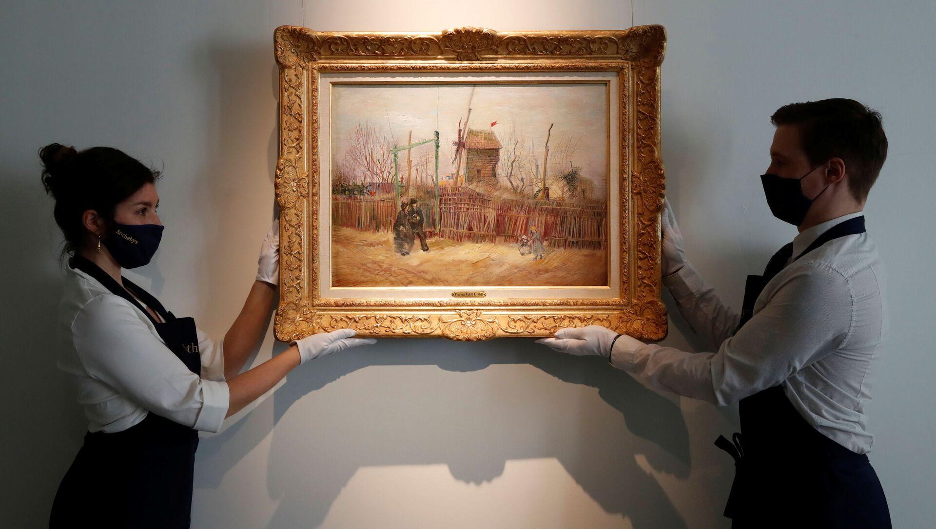 Картина Уличная сцена на Монмартре, созданная Ван Гогом в 1887 году - Sputnik Italia, 1920, 25.02.2021