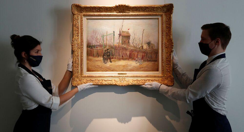 Il dipinto La Scena di strada a Montmartre, creato da Van Gogh nel 1887