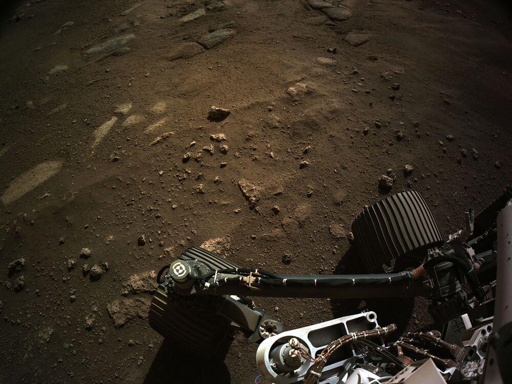 Le prime foto del rover spaziale statunitense Perseverance sulla superfice di Marte