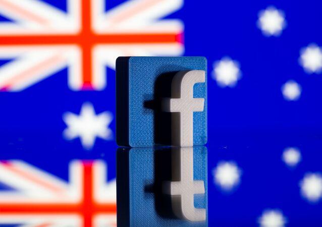 Logo Facebook e bandiera australiana