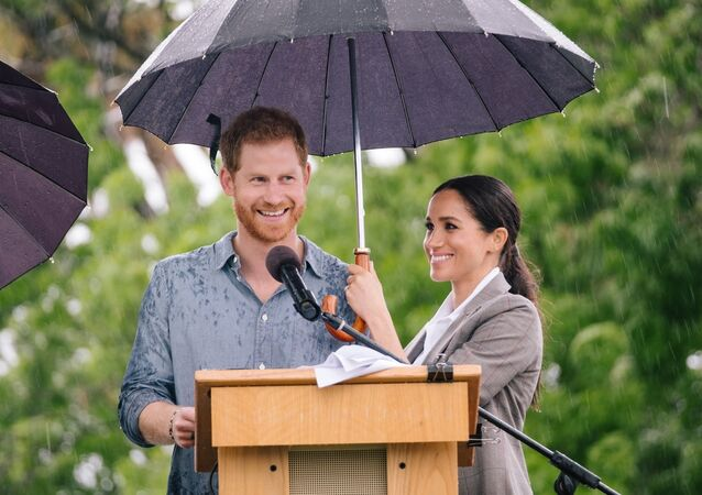 Prince Harry and Meghan Markle in Dubbo.