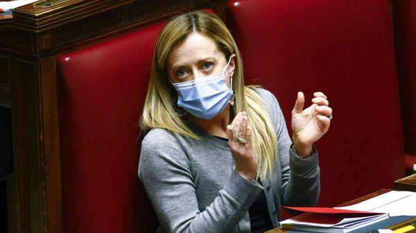 Лидер партии Братья Италии Джорджа Мелони в нижней палате парламента в Риме - Sputnik Italia