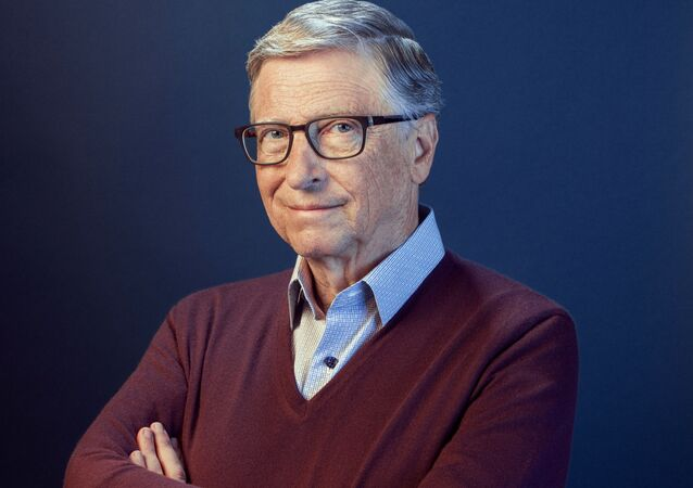 Bill Gates poses in this undated handout photo obtained by Reuters on February 15, 2021