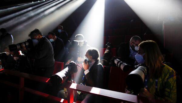 I rappresentanti dei mass media al Festival di Sanremo, Italia - Sputnik Italia