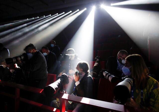 I rappresentanti dei mass media al Festival di Sanremo, Italia