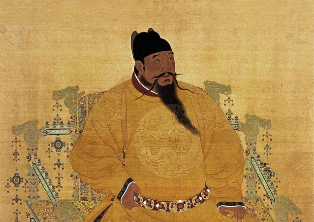 Ritratto dell'imperatore cinese Yongle della dinastia Ming
