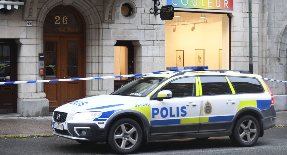 A police car in Sweden