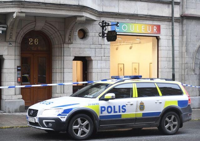 Macchina della polizia in Svezia
