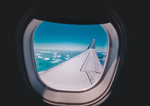 Finestrino di un aereo