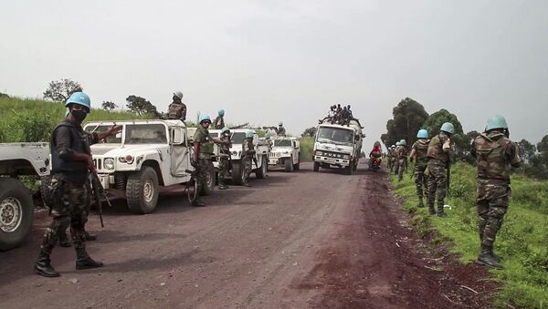 Le forze di pace dell'Onu sul luogo dell'assassinio dell'ambasciatore italiano in Congo Luca Attanasio - Sputnik Italia