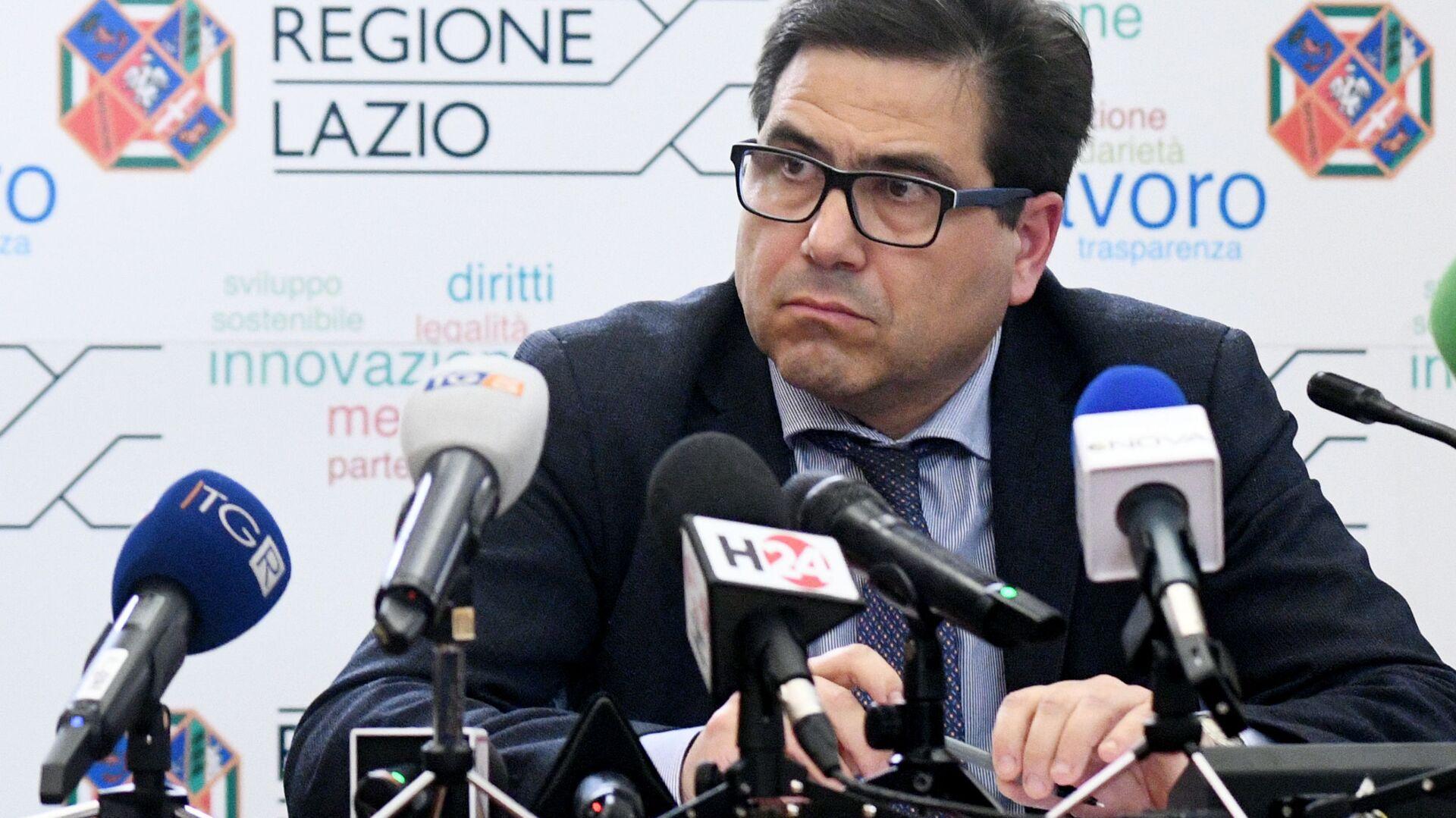 Alessio D'Amato assessore sanità regione Lazio - Sputnik Italia, 1920, 04.08.2021