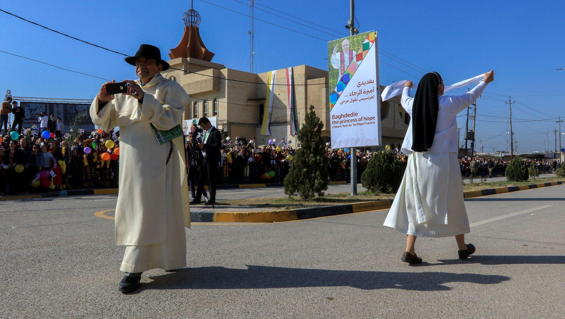 Iraq, Papa Francesco a Qaraqosh incontra la comunità cristiana e ringrazia le donne irachene - Sputnik Italia, 1920, 07.03.2021