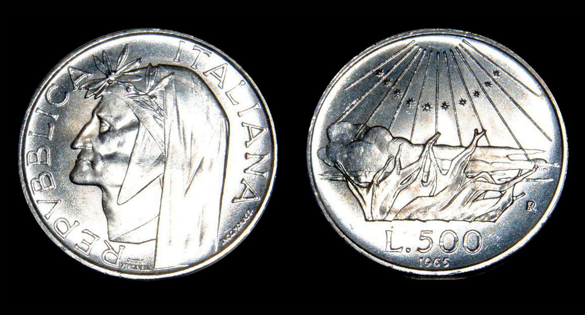 Controlla bene la tua moneta da 500 Lire di Dante Alighieri, potrebbe valere una fortuna  - Sputnik Italia, 1920, 09.03.2021
