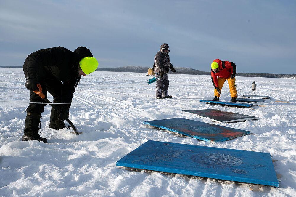 La mostra durerà un mese e mezzo, finché il ghiaccio non inizierà a sciogliersi