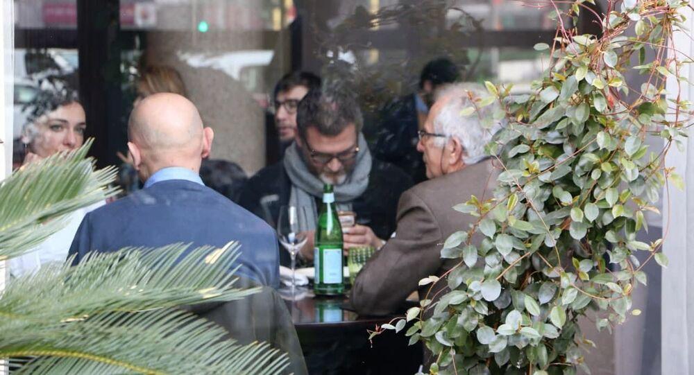 Un ristorante a Milano, Italia