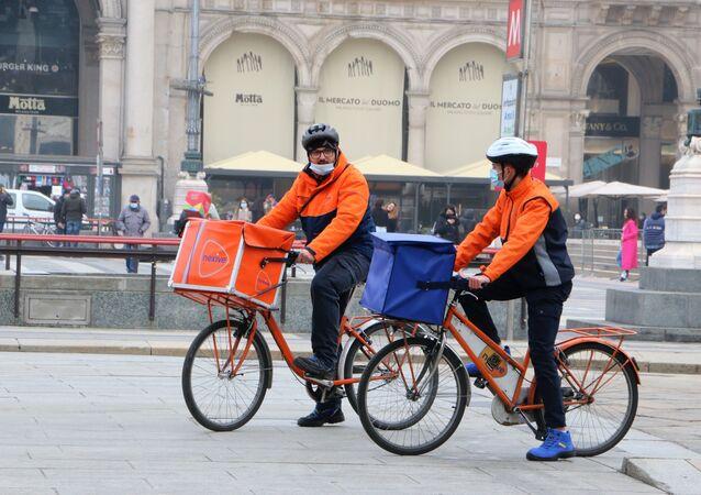 I rider a Milano, Italia
