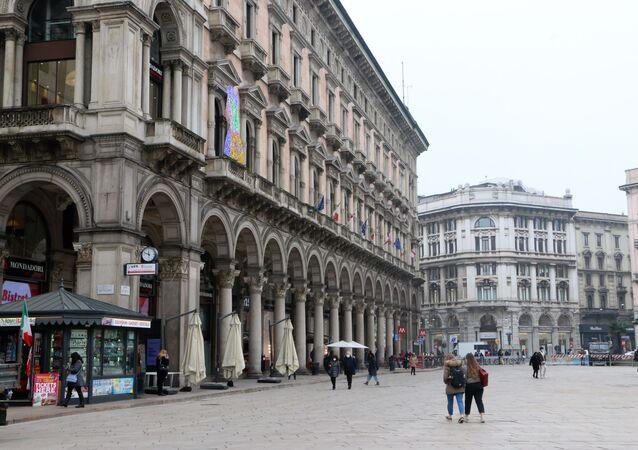 Una strada a Milano, Italia