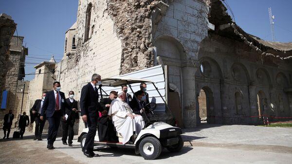Papa Francesco durante la visita in Iraq - Sputnik Italia