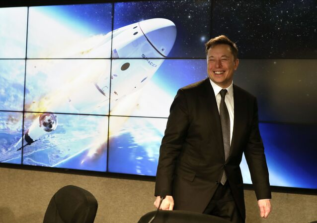 Elon Musk, founder, CEO, and chief engineer/designer of SpaceX speaks during a news conference after a Falcon 9 SpaceX rocket test flight to demonstrate the capsule's emergency escape system at the Kennedy Space Center in Cape Canaveral, Fla., Sunday, Jan. 19, 2020