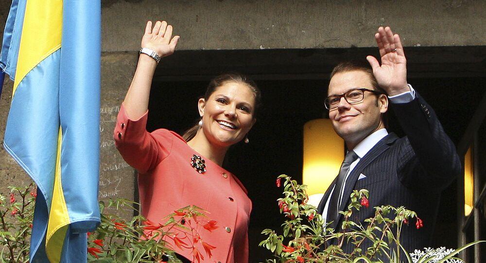 La principessa ereditaria svedese Victoria e il principe Daniel