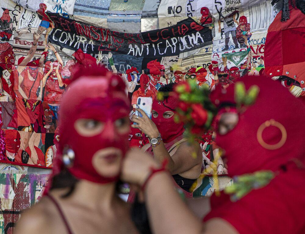 Giornata internazionale della donna a Santiago del Cile