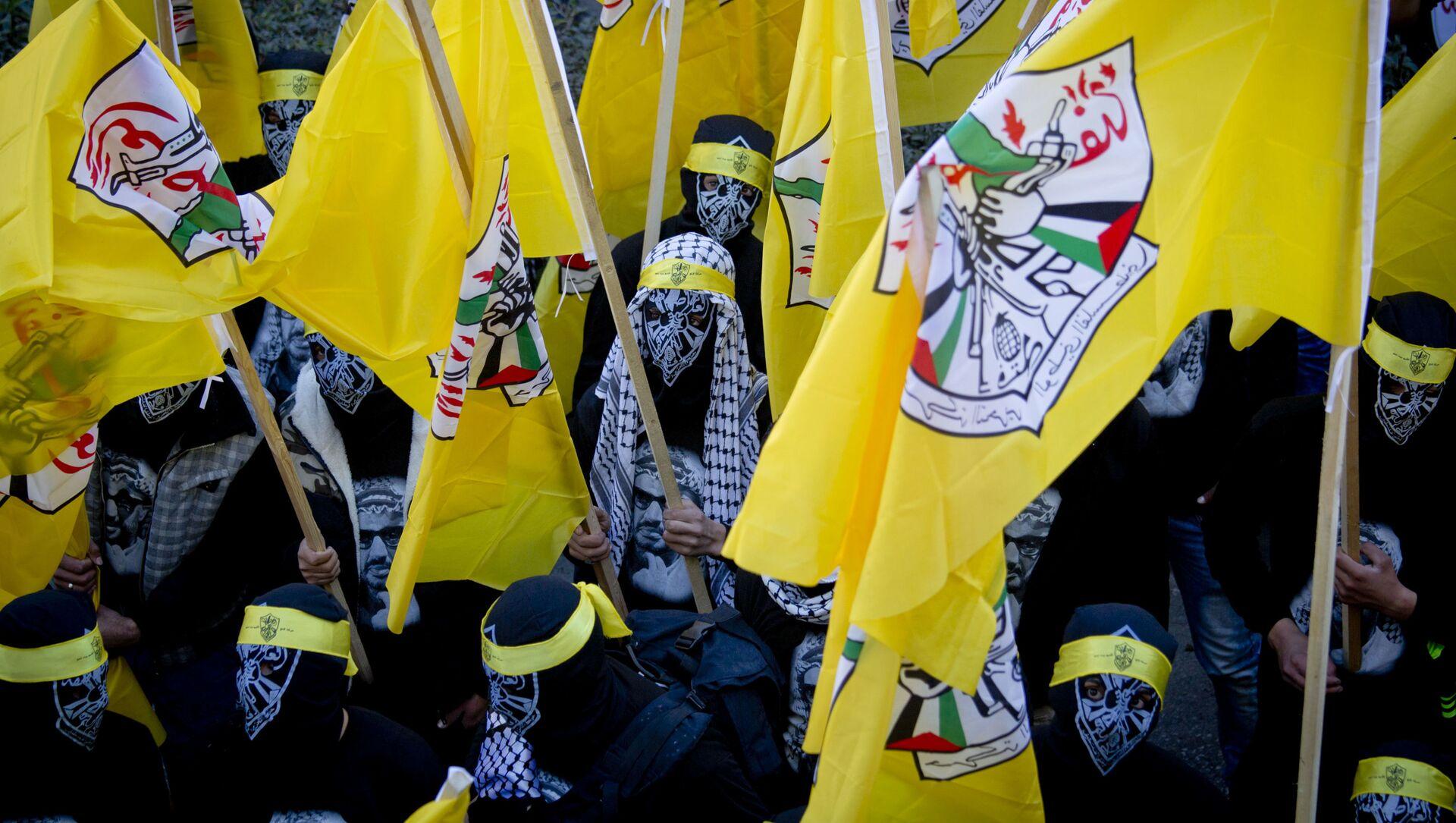 Le bandiere del movimento palestinese Fatah - Sputnik Italia, 1920, 13.03.2021