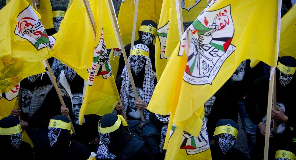 Le bandiere del movimento palestinese Fatah