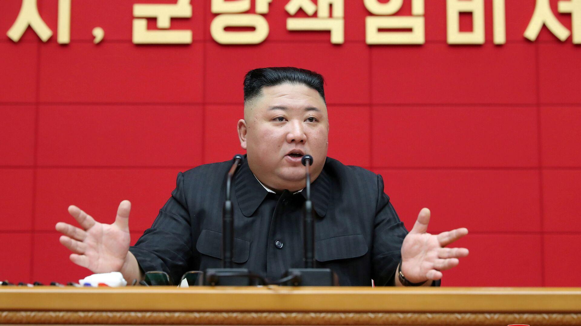 Il leader nordcorenano Kim Jong Un  - Sputnik Italia, 1920, 09.07.2021