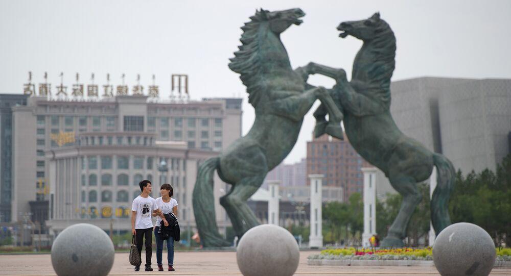 La città di Ordos in Mongolia
