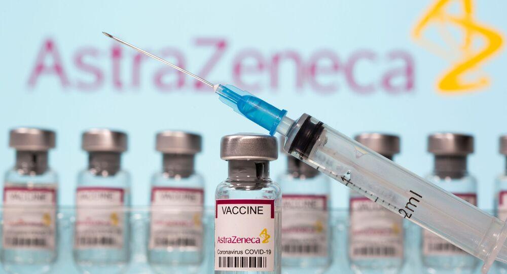 Fiale di vaccino AstraZeneca